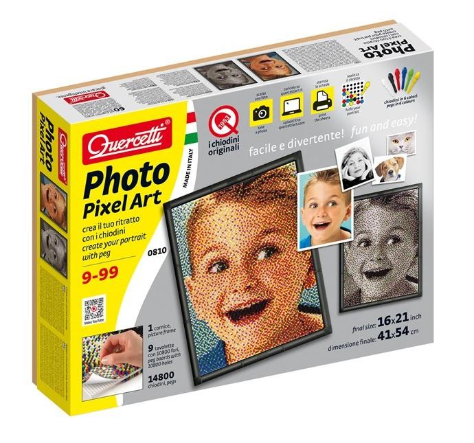 Photo Pixel Art per creare il proprio ritratto con i chiodini, età 10+ prezzo 42,00 Euro