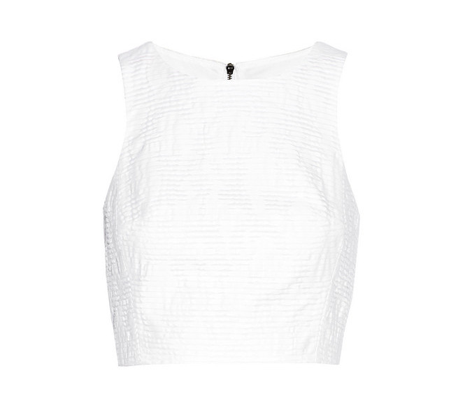 Top bianco smanicato di Rag&Bone: semplice e di grande effetto