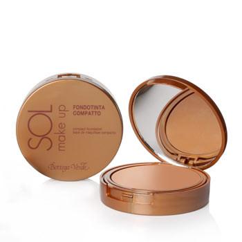 SOL - Fondotinta compatto con Vitamina E e olio di crusca di Riso, SPF15 , water resistant