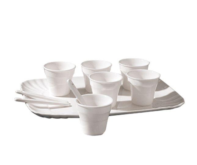 Set da caffè Seletti Estetico Quotidiano composto da 6 bicchierini da caffè + 6 palettine + 1 vassoio