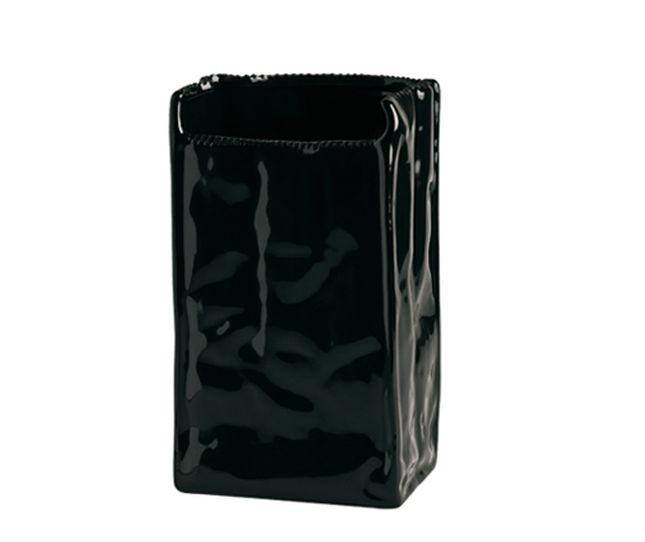 Sacchetto del pane Seletti Estetico Quotidiano Black Edition in porcellaana nera
