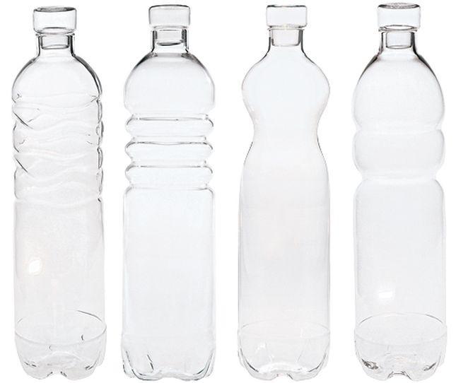 Bottiglie Seletti Estetico Quotidiano in vetro borosilicato. Diametro cm. 8,5, altezza cm 34