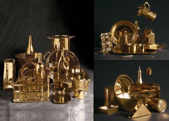 La collezione Seletti Estetico Quotidiano Gold Edition