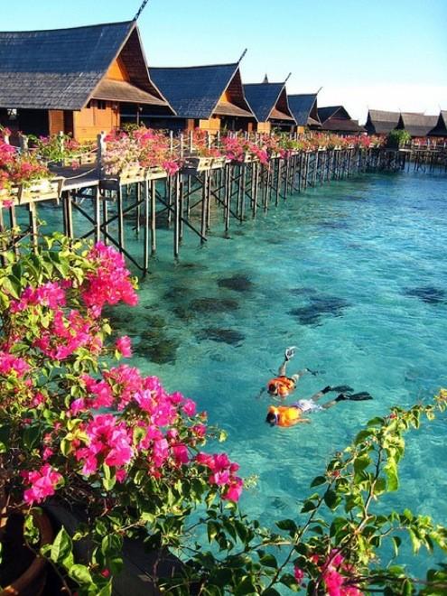 Colori e acque limpide a Tahiti