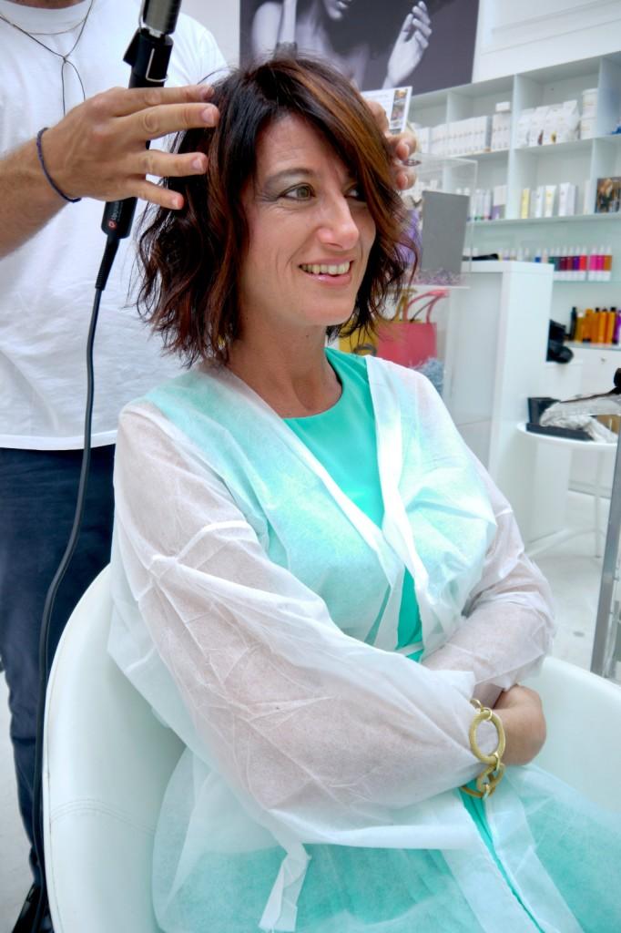 Texture dry per l'haistyle di Luisa definito con il curling iron