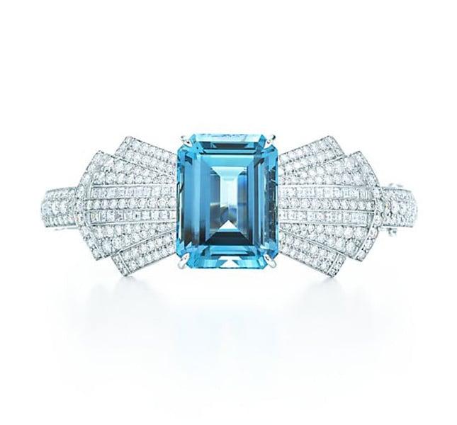 Tiffany bracciale con diamanti e pietra zzurra della collezione Blue book.