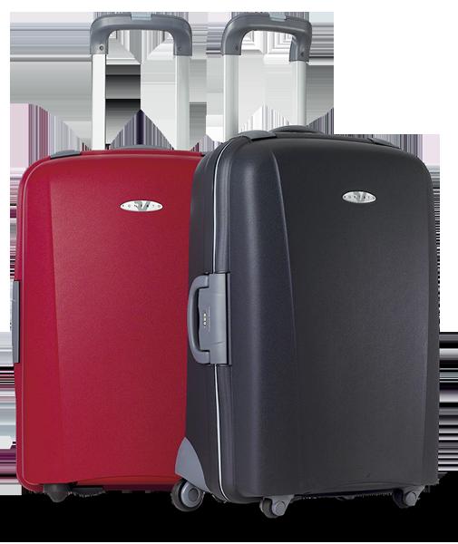 Valigia grande Roncato, modello Flexi. Rigida e capiente. Disponibile nei colori nero e rosso