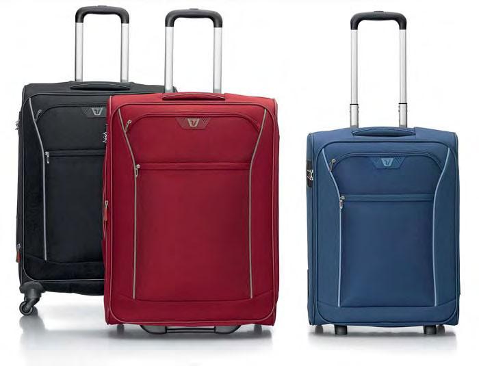 Valigie medie by Roncato, modello Ready, con  2 e 4 ruote. Disponibile nei colori: nero, rosso e blu