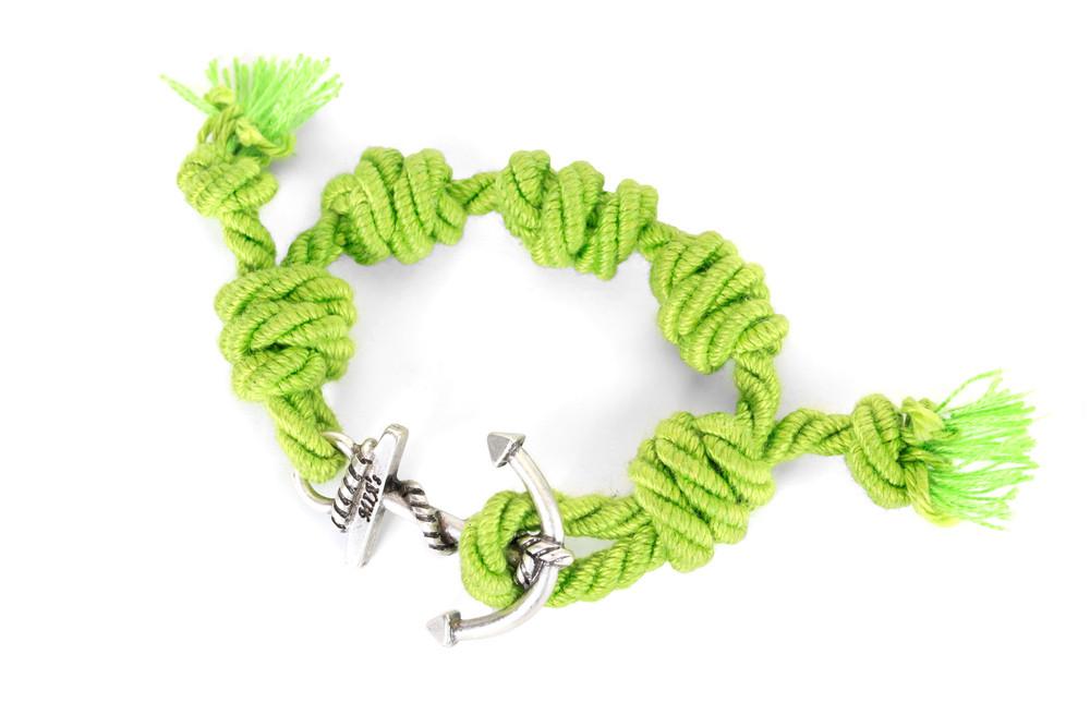 Mia's, SUMMER TOUR Collection: il braccialetto verde e argento Formentera. Prezzo 35 euro
