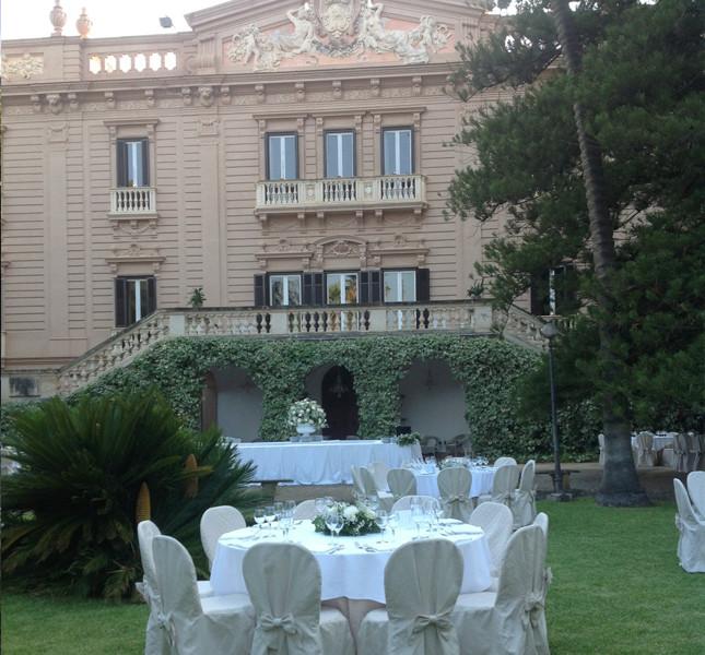 Vista di Villa Tasca dei Conti d'Almerita, Palermo.