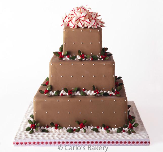 I colori dell'inverno nella torta a piani quadrati. Una creazione By Carlo's Bakery. modello W46.