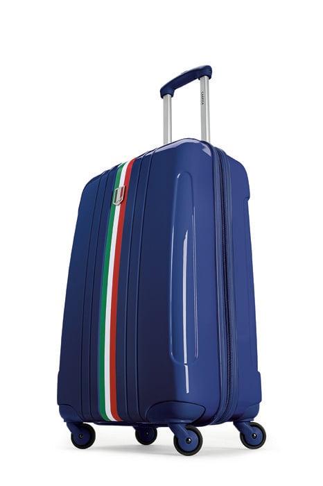 La versione blu del trolley della linea realizzata per i Mondiali del Brasile 2014: in policarbonato, pratici e disponibili nelle versioni small, medium e large