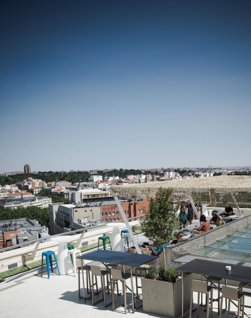 La vista su Madrid dall'ultimo piano del Circulo de Bellas Artes