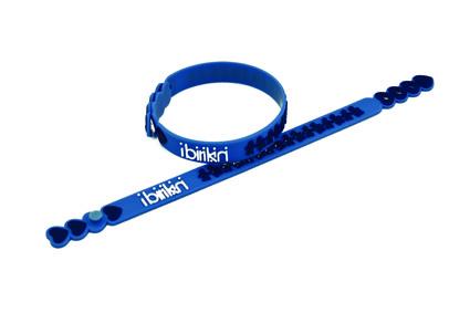 Bracciale Birikini Funny in caucciù azzurro
