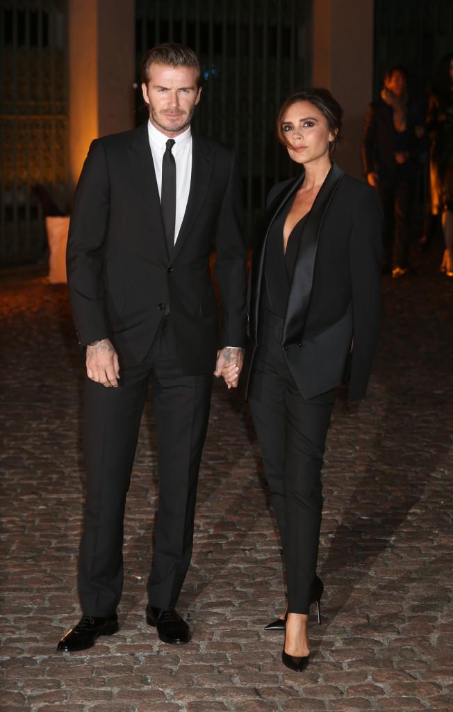 Difficilmente la coppia lascia al caso il proprio look: qui sono in perfetto abbinamento l'uno con l'altra