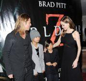 La famiglia Jolie-Pitt alla prima mondiale di World War Z