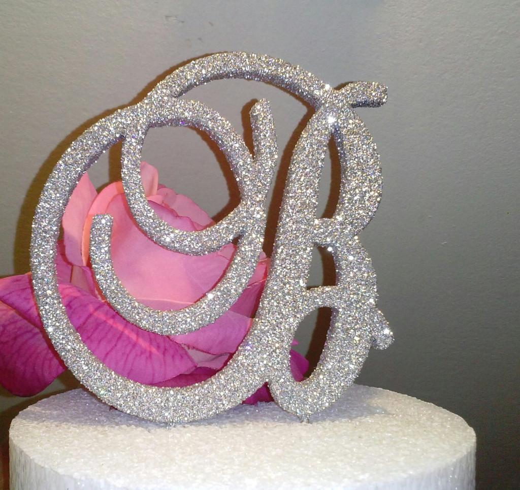 elegante cake topper glitter