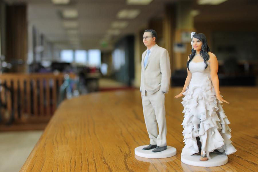 formato 3D degli sposi realizzata con scansione