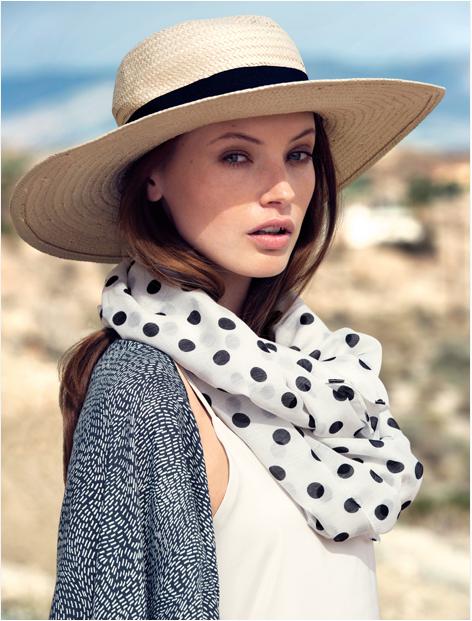 Cappello in paglia con fascia nera, by H&M