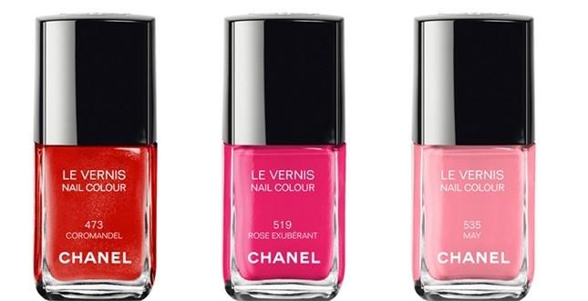 tre tonalità di rosso dalla più scura a quella rosata