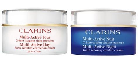 Clarins Multi-Régénérante è disponibile anche in versione Crema Antirughe Giorno e Crema Notte