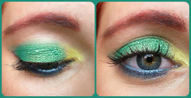 Make up di Ferragosto sui toni del verde e dell'azzurro