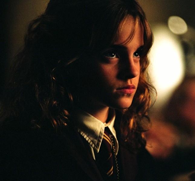 Una giovane Emma Watson nei panni di Hermione in Harry Potter e il prigioniero di Azkaban
