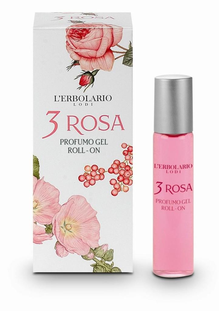 3 Rosa Profumo gel roll on è un bouquet  da indossare originale, malizioso e appassionato.