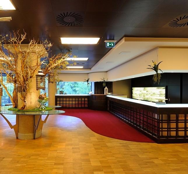Il resort è una struttura elegante, a pochi passi dal centro di Bagno di Romagna
