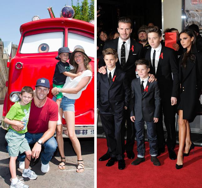 Le coppie inossidabili del mondo dello spettacolo: Gisele Bündchen e Tom Brady, e Victoria e David Beckham