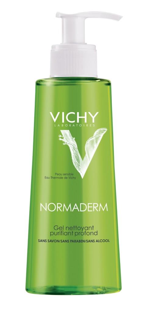 Normaderm Gel Detergente Purificante Profondo, contiene glicerina e acido salicilico per purificare in profondità.