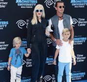 Gwen Stefani con i figli Kingston e Zuma Nesta Rock Rossdale