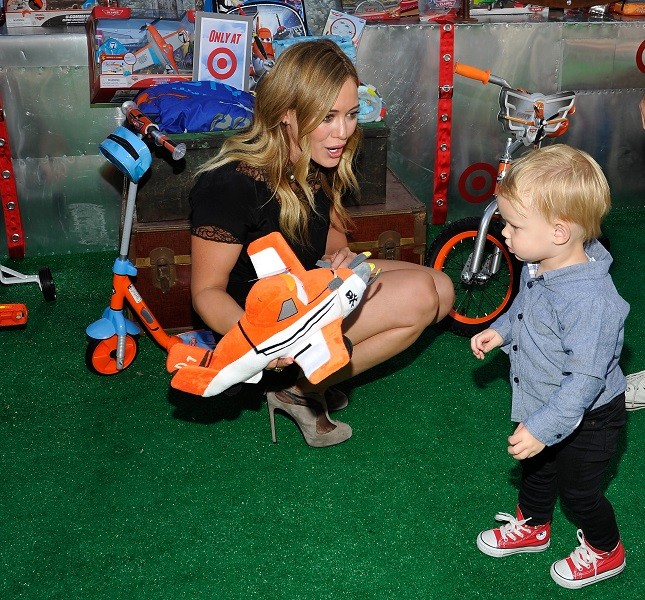 Hillary Duff con l figlio Luca Cruz