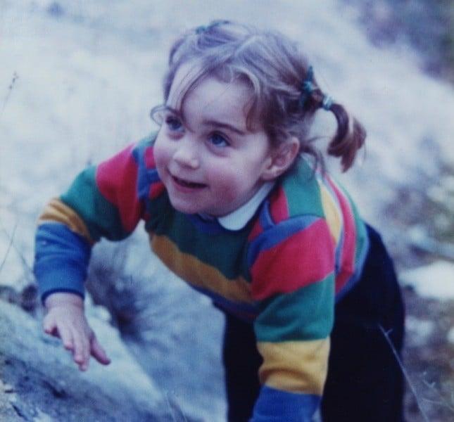 La piccola Kate. La duchessa di Cambridge ha sempre amato muoversi ©The Middleton Family