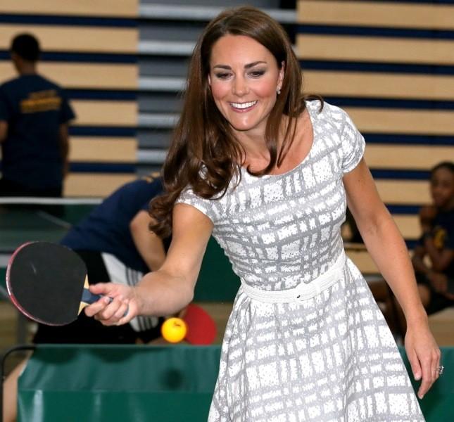 Non si tira indietro: Kate è sempre pronta a intraprendere uno sport diverso, anche nelle occasioni ufficiali