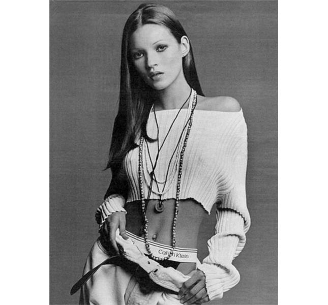 Kate Moss, icona Calvin Klein