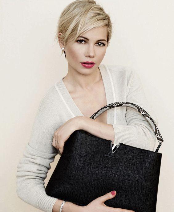Capelli biondi sopracciglia scure per la campagna di Luis Vuitton