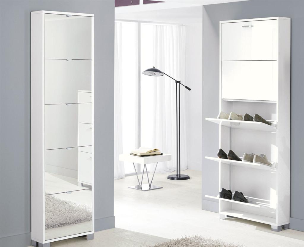 Idee per scegliere la scarpiera unadonna - Scarpiera specchio bianca ...