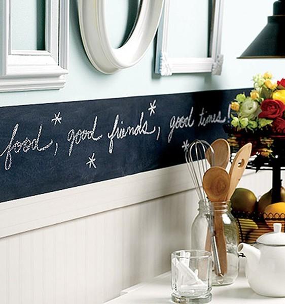 La pittura lavagna tante idee per usarla in casa unadonna - Lavagna per cucina ...