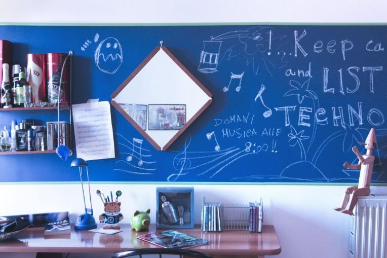 Pareti Lavagna Magnetica : La pittura lavagna tante idee per usarla in casa unadonna