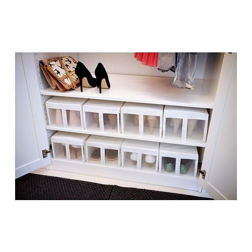 Scatola per scarpe Ikea, una soluzione di scarpiera alternativa per chi ha davvero uno spazio molto ridotto