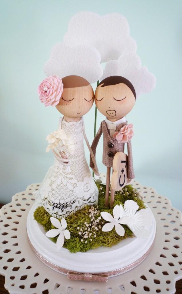 cake topper ideale per un matrimonio shabby chic