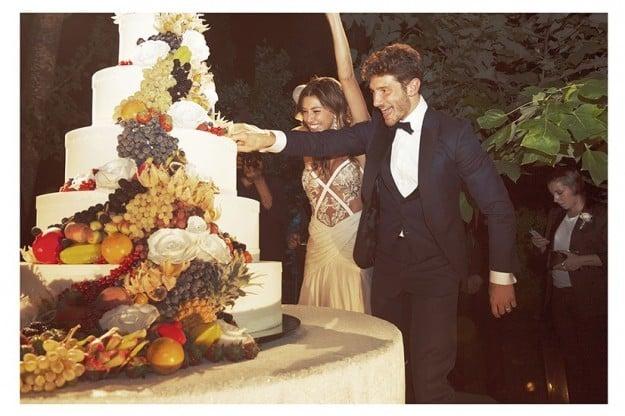 torta nuziale belen Rodriguez foto esclusive di Verissimo