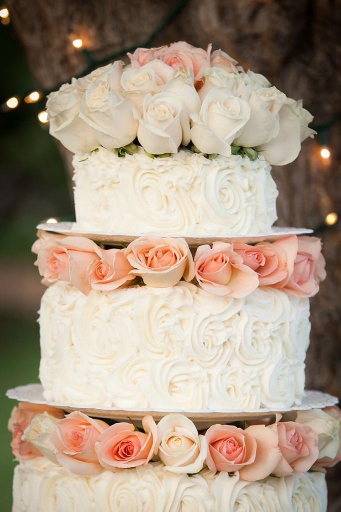 torta nuziale con rose foto by pinterest