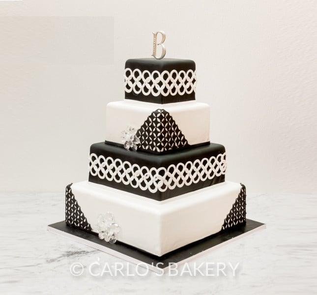 Bianco e nero è sempre chic e bon ton! By Carlo's Bakery modello W525.