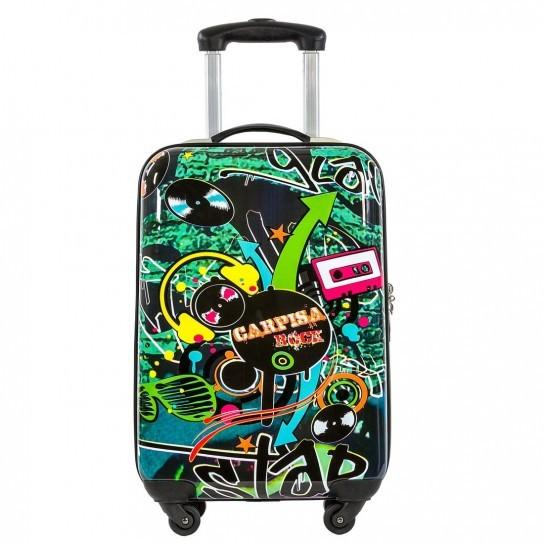 La linea di trolley Rock Carpisa Multicolor si ispira alla street art