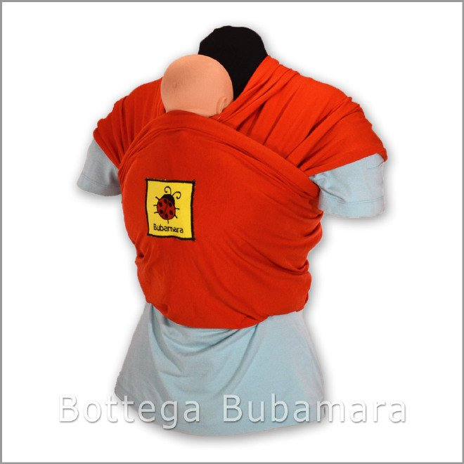 Fascia porta bebè lunga ed elastica. Realizzazione artigianale di Bottega Bubamara a 50,00 Euro
