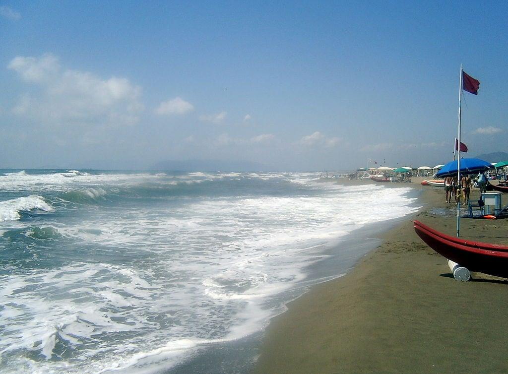La spiaggia del Forte