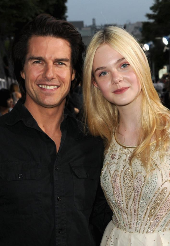 Tom con la collega Elle Fanning alla premiere di