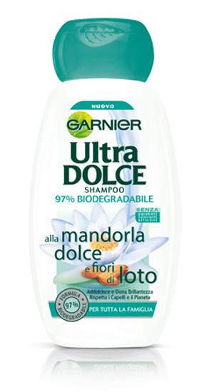 shampoo Garnier Ultra Dolce alle Mandorle Dolci e Fiori di Loto
